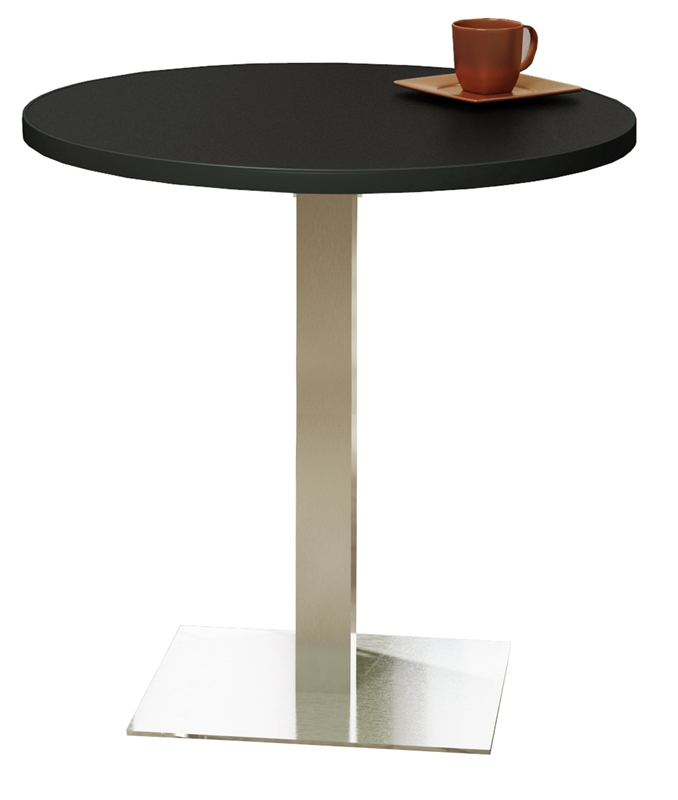 Round Stainless Base Coffee Height Tables: Bistro 42'' Round Bar Height Table With Stainless Steel