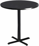 Bistro 36'' Round Bar Height Table - Anthracite with Black T-Mold [CA36RHBTANT-FS-MAY]