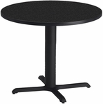 Bistro 36'' Round Dining Height Table - Anthracite with Black T-Mold [CA36RLBTANT-FS-MAY]