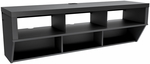 Series 9 Designer 58''W Wall Mounted AV Console with 6 Open Storage Compartments - Black [BCAW-0508-1-FS-PP]