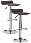 Favorite Finds Height Adjustable Swivel Bar Stool with Faux Leather Seat - Set of 2 - Black [10042BL-FS-LCK]