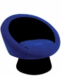 Black and Blue Saucer Chair [CHR-SAUCE-BK-BU-FS-LUMI]