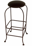 Black Backless Swivel Counter/Bar Stool [SW124-FS-GCM]