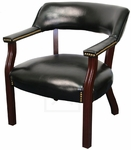 225 lb Capacity Banker's Chair - Black Vinyl [100-BLACK-FS-IC]