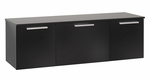Coal Harbor Wall Mounted Buffet with Hidden Self Closing Hinges - Black [BCBW-0203-1-FS-PP]