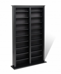 Double Width Barrister Tower with 18 Adjustable Shelves - Black [BMB-0800-FS-PP]