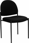 Black Fabric Comfortable Stackable Steel Side Chair [BT-515-1-BK-GG]