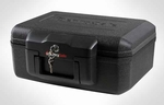 Compact Fire-Safe Locking Security Chest - Black [1200BLK-FS-SEN]