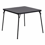 Black Folding Card Table [JB-2-GG]