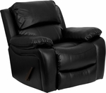 Black Leather Rocker Recliner [MEN-DA3439-91-BK-GG]