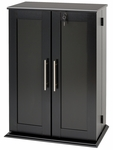 Locking Media Storage Cabinet with Shaker Doors and 12 Adjustable Shelves - Black [BLS-0192-FS-PP]