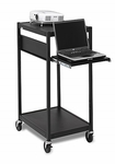 Mobile Notebook-Data Projector Cart - 24''W x 18''D x 42''H [ECILS2-BK-BRET]