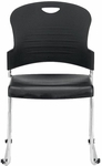 Aire S5000 18'' W x 23'' D x 34'' H Plastic Stack Side Chair - Black [S5000-BLACK-FS-EURO]