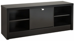 Series 9 Designer 53.75''W Cubbie Bench with 3 Storage Compartments - Black [BUBR-0501-1-FS-PP]
