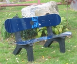 Black Snow Board Bench [SNBDBNCHBK-FS-ISK]