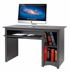 Sonoma 48''W Computer Desk with 2 Open Storage Compartments - Black [BDD-2948-FS-PP]