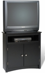 Sonoma 32''H Corner TV Cabinet with Storage Compartments - Black [BTV-3232-FS-PP]