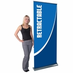 Blade LX Retractable Banner Stand [BLD-LX-GRY-FS-OR]