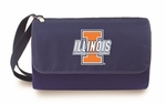 Blanket Tote - Navy- University of Illinois Digital Print [820-00-138-214-0-FS-PNT]