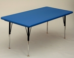 Blow-Molded Rectangular Plastic Top Activity Table - 30''D x 72''W [AR3072-REC-CRL]