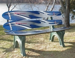 ''Blue Atlantic'' Water Ski Bench [ISK-WSB-BA-FS-ISK]