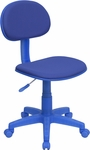 Blue Fabric Ergonomic Swivel Task Chair [BT-698-BLUE-GG]