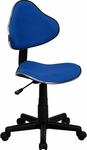 Blue Fabric Ergonomic Swivel Task Chair [BT-699-BLUE-GG]