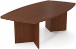 Boat Shaped Conference Table with 1.75'' Melamine Top and PVC Edge - Bordeaux [65776-39-FS-BS]