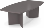 Boat Shaped Conference Table with 1.75'' Melamine Top and PVC Edge - Slate [65776-59-FS-BS]