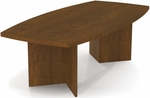 Boat Shaped Conference Table with 1.75'' Melamine Top and PVC Edge - Tuscany Brown [65776-63-FS-BS]