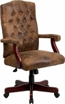 Bomber Brown Classic Executive Swivel Office Chair [802-BRN-GG]