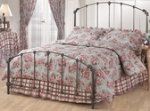Bonita Classic Metal Bed Set with Rails - Full - Copper Mist