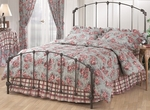 Bonita Classic Metal Bed Set with Rails - King - Copper Mist [346BKR-FS-HILL]
