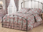 Bonita Classic Metal Bed Set with Rails - Queen - Copper Mist [346BQR-FS-HILL]