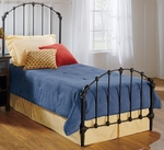 Bonita Classic Metal Headboard with Rails - Twin - Copper Mist [346HTWR-FS-HILL]