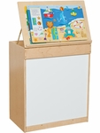 Book Display Stand with Markerboard [ECLCTRNWHT-VCO]