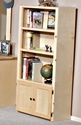 Rustic Style 31''W x 60''H Solid Pine Bookcase - Desert Sand