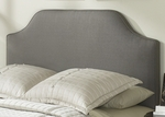 Bordeaux Sleek Upholstered Headboard - Twin - Dolphin [B72143-FS-FBG]