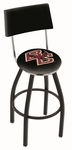 Boston College 25'' Black Wrinkle Finish Swivel Counter Height Stool with Cushioned Back [L8B425BOSTNC-FS-HOB]