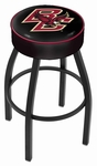 Boston College 25'' Black Wrinkle Finish Swivel Backless Counter Height Stool with 4'' Thick Seat [L8B125BOSTNC-FS-HOB]