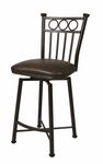 Bostonian 26'' Swivel Barstool - Autumn Rust Finish and Florentine Coffee Upholstery [BO-219-26-AR-649-FS-PSTL]