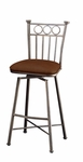 Bostonian 26'' Swivel Barstool - Bronze Finish and Shandora Toast Upholstery [QLBO219318582-FS-PSTL]