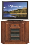 Riley Holliday 46''W x 36''H Boulder Creek Corner TV Stand - Mission Oak [82232-FS-LCK]