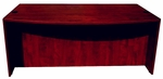 Bow Front Desk Shell - Mahogany [N189-M-FS-BOSS]