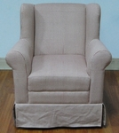 Kids Wingback Chair with Red Ticking [K3837-A287-FS-DCON]