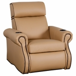 Bradford Theater Seat in Top Grain Leather [530-BRADFORD-S1-FS-LTS]