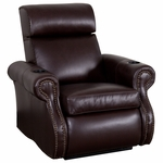 Bradford Theater Seat in Top Grain Leather with Leather Match [520-BRADFORD-S1-FS-LTS]