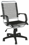 Bradley Bungie Office Chair in Black and Aluminum [02549-FS-ERS]