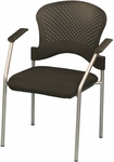 Breeze 25'' W x 21'' D x 33.75'' H Side Chair without Casters - Black with Gray Frame [FS8277-FS-EURO]