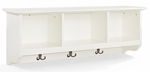 Brennan Entryway Storage Shelf in White [CF6004-WH-FS-CRO]